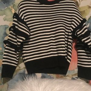 Sweaters - Cute Black and white striped sweater!